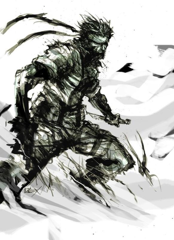 Solid Snake Illustrations K Log Blog