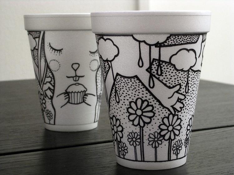 drawings on coffee cups k log blog